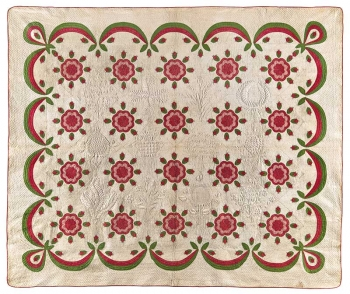 Whig Rose with Swag Border Quilt thumbnail