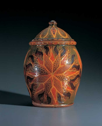 Covered Jar with Star Decoration thumbnail