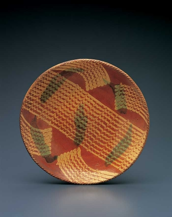 Slipware Charger with Combed Decoration thumbnail