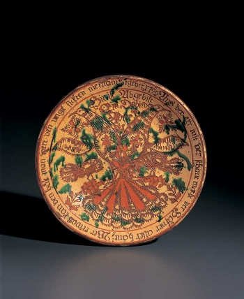 Sgraffito Plate or Deep Dish with Double-Headed Eagle thumbnail